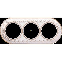 Рамка 3-ая Werkel Antik Runda белое золото