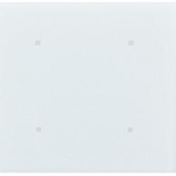 """4 - клавишный выключатель, 8 функций, стекло """"Glass white"""""""