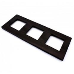Рамка тройная Aluminium black