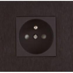 Розетка одинарная Aluminium black