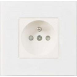 Розетка одинарная white lacquer Aluminium