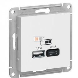USB РОЗЕТКА A+С, 5В/2,4 А, 2х5В/1,2 А, механизм