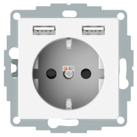 SM Розетка Schuko с 2 USB c зарядным устройством 2,4 A