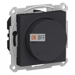 Светорегулятор поворотно-нажимной 630Вт Schneider Atlasdesign, карбон
