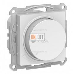 Светорегулятор поворотно-нажимной 315Вт Schneider Atlasdesign, белый