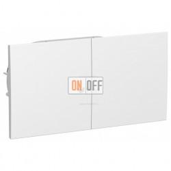 Розетка двойная с заземлением со шторками с развижной крышкой в сборе Schneider Atlasdesign, белый