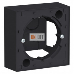Коробка накладного монтажа Schneider Electric Atlasdesign, карбон