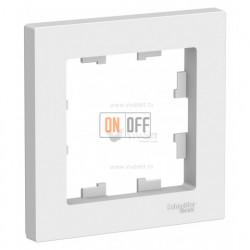 Рамка одинарная Schneider Electric Atlasdesign, белый ATN000101