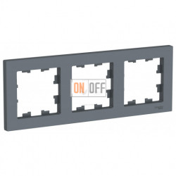 Рамка тройная Schneider Electric Atlasdesign, грифель