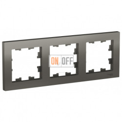 Рамка тройная Schneider Electric Atlasdesign, сталь