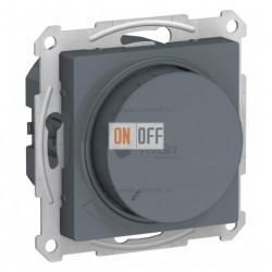 Светорегулятор поворотно-нажимной 630Вт Schneider Atlasdesign, грифель