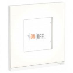 Рамка одинарная Schneider Electric Unica Pure, матовое стекло-белый