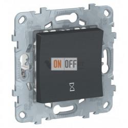 Реле таймера обратного отсчета, 10 А 3-х проводной, от 5 мин до 8 ч Schneider Unica New, антрацит