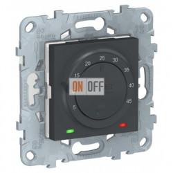 Термостат с датчиком для теплых полов 10А/250 В~ Schneider Unica New, антрацит