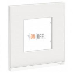 Рамка одинарная Schneider Electric Unica Pure, белое стекло-белый
