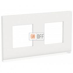 Рамка двойная Schneider Electric Unica Pure, белое стекло-белый