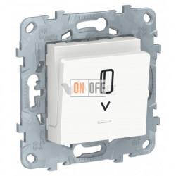 Карточный выключатель с подсветкой без задержки времени 10А/250 В~ Schneider Unica New, белый