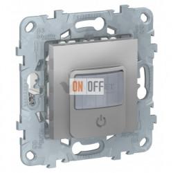 Датчик движения с выключателем 3-х проводной 10А до 1050Вт Schneider Unica New, алюминий