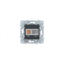 Выключатель двухклавишный с подсветкой 10А/250 В~ Schneider Unica New, антрацит
