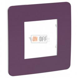 Рамка одинарная Schneider Electric Unica Studio Color, лиловый-белый