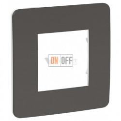 Рамка одинарная Schneider Electric Unica Studio Color, дымчато-серый-белый