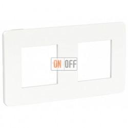 Рамка двойная Schneider Electric Unica Studio Color, белый