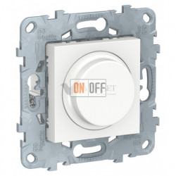 Cветорегулятор LED поворотно-нажимной универсальный 4-200 Вт, Schneider Unica New, белый