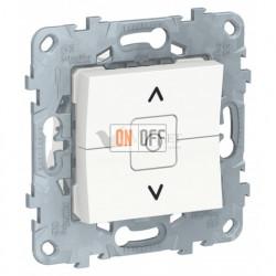 Выключатель управления для жалюзи и рольставней 6А/250 В~ Schneider Unica New, белый