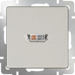 Розетка HDMI Werkel, слоновая кость
