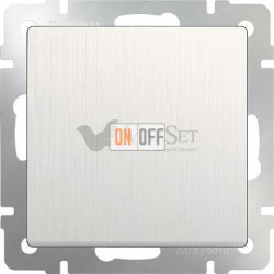 Выключатель одноклавишный Werkel 10A/250В, перламутровый рифленый