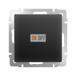 Выключатель одноклавишный перекрестный Werkel 10A/250В (из 3-х мест), черный матовый