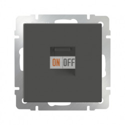 Интернет розетка одинарная Werkel 5 категории RJ-45 серо-коричневый