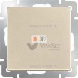 Выключатель одноклавишный перекрестный Werkel 10A/250В (из 3-х мест), шампань