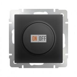 Светорегулятор поворотный Werkel до 600 Вт черный матовый