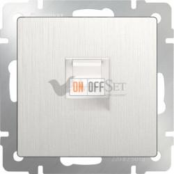 Интернет розетка одинарная Werkel 5 категории RJ-45, перламутровый рифленый