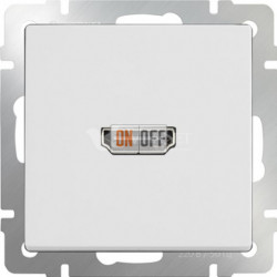 Розетка HDMI Werkel, белый