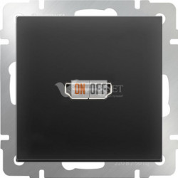 Розетка HDMI Werkel, черный матовый