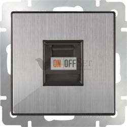 Интернет розетка одинарная Werkel 5 категории RJ-45, глянцевый никель
