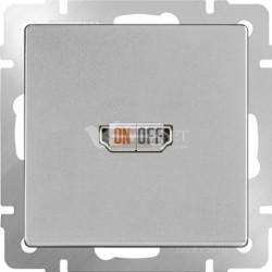 Розетка HDMI Werkel, серебряный