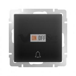 Кнопка звонка с символом Werkel, черный матовый