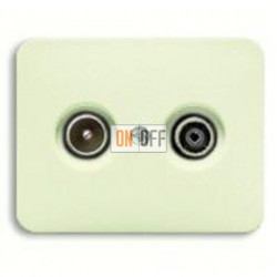 Розетка телевизионная оконечная TV FM, диапазон частот от 4 до 2400 MГц 0230-0-0380 - 1710-0-2454