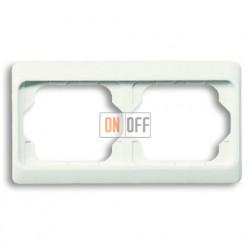 Рамка двойная для горизонтального монтажа Alpha Exclusive белый глянцевый 1754-0-2999