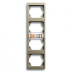 Рамка четверная для вертикального монтажа Alpha Exclusive палладий 1754-0-4121