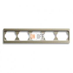 Рамка пятерная для горизонтального монтажа Alpha Exclusive палладий 1754-0-4122