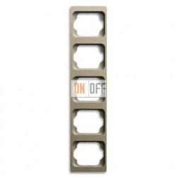 Рамка пятерная для вертикального монтажа Alpha Exclusive палладий 1754-0-4123