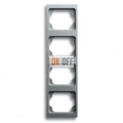 Рамка четверная для вертикального монтажа Alpha Exclusive титан 1754-0-4130