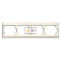 Рамка четверная для горизонтального монтажа Alpha Exclusive кремовый глянцевый 1754-0-4151