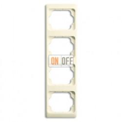 Рамка четверная для вертикального монтажа Alpha Exclusive кремовый глянцевый 1754-0-4152