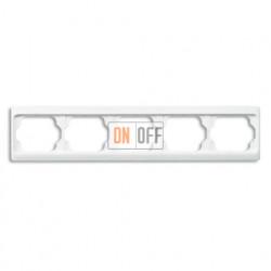 Рамка пятерная для горизонтального монтажа Alpha Exclusive белый глянцевый 1754-0-4157