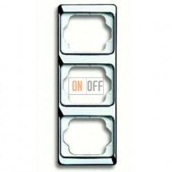 Рамка тройная для вертикального монтажа Alpha Exclusive хром 1754-0-4163